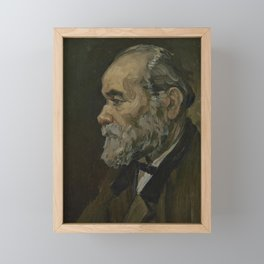 Portrait of an Old Man Framed Mini Art Print