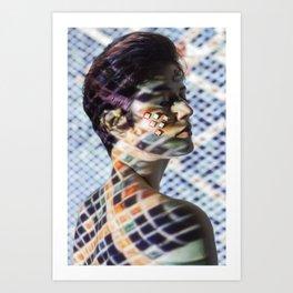 Lady reptile in mosaic Art Print