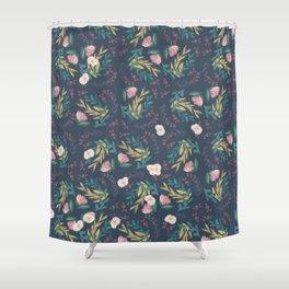 Dark Floral 2 Shower Curtain