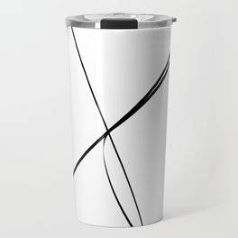 """ Singles Collection "" - One Line Minimal Letter X Print Travel Mug"