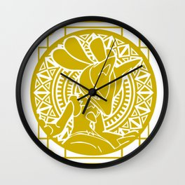 Stained Glass - Pokémon - Lucario Wall Clock