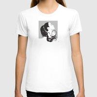 black swan T-shirts featuring Swan by Stevyn Llewellyn