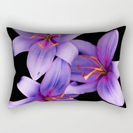 Beautiful Blue Ant Lilies, Flowers Scanography Rectangular Pillow