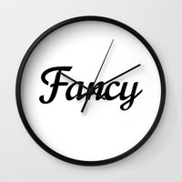 fancy Wall Clocks featuring Fancy by CreativeAngel