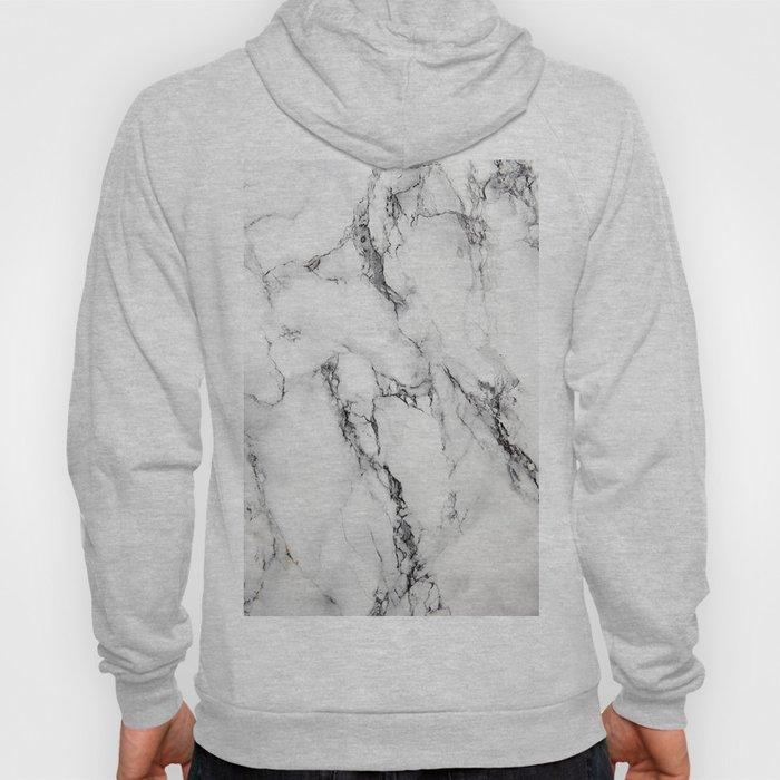 White Marble Texture Hoody