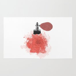 Red Rose Perfume Rug