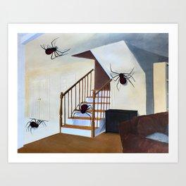 Fear of spider Art Print