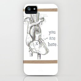 You Are Here Anatomy Heart iPhone Case