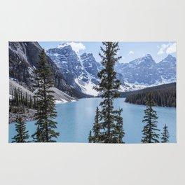 Landscape Lake Moraine Crystal Blue Waters Rug