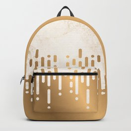 Marble and Geometric Diamond Drips, in Gold Backpack