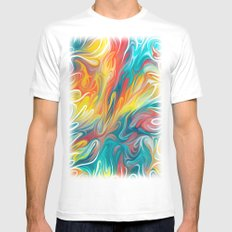 Abstract Colors II White MEDIUM Mens Fitted Tee