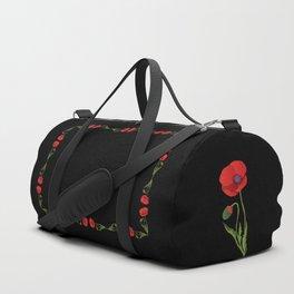 Poppy flower Duffle Bag