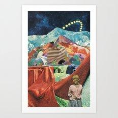 THE MELTING WALL (2015) Art Print