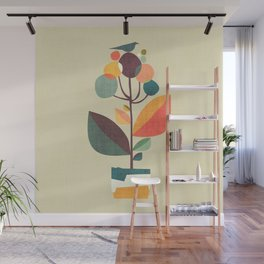 Potted plant with a bird Wall Mural