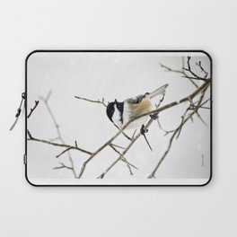 Snowy Chickadee Laptop Sleeve