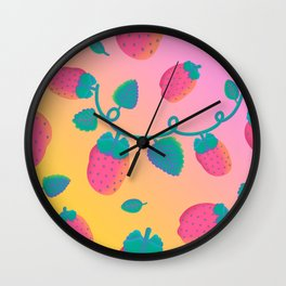 Strawberry Day Wall Clock