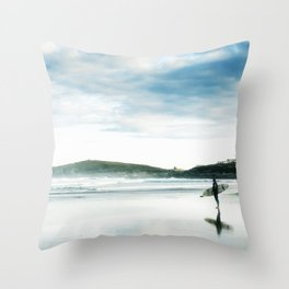 Fistral Surfer Throw Pillow
