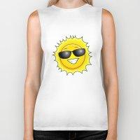 sunglasses Biker Tanks featuring sunglasses on by Li-Bro
