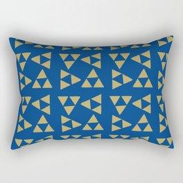 Print 130 - The Legend Of Zelda - Blue Rectangular Pillow