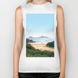Waiting for the waves Biker Tank