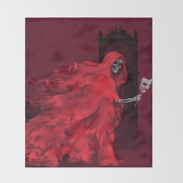 Red Death Throw Blanket