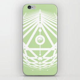 Radiant Abundance (light green-white) iPhone Skin