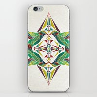 hummingbird iPhone & iPod Skins featuring hummingbird  by Manoou