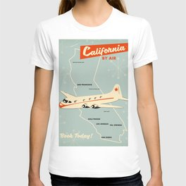 California 1950s vintage style travel poster T-shirt