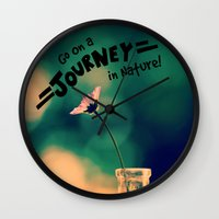 journey Wall Clocks featuring Journey by RDelean
