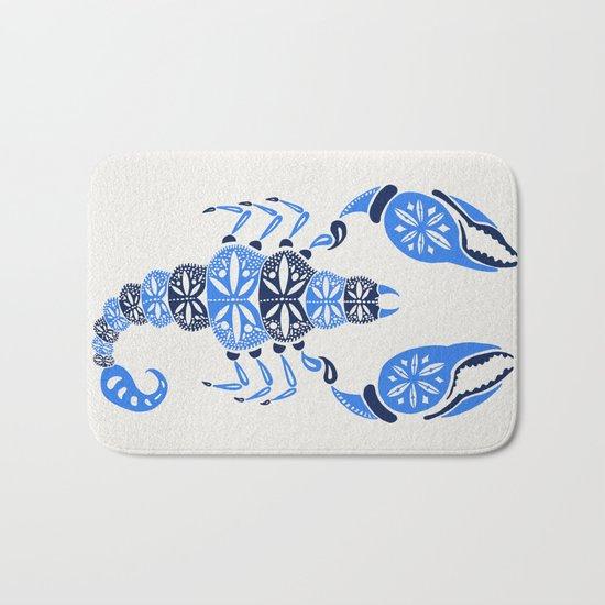 Blue Scorpion Bath Mat