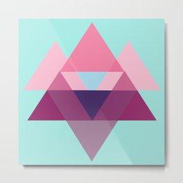 a triangular pattern Metal Print