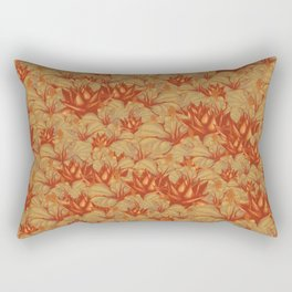 Just Orange Flowers Rectangular Pillow