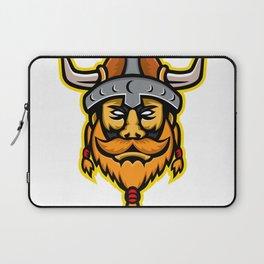 Viking Warrior or Norse Raider Head Mascot Laptop Sleeve