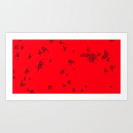 Red pattern Art Print