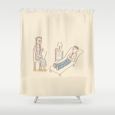 Psychotherapy in Session Shower Curtain