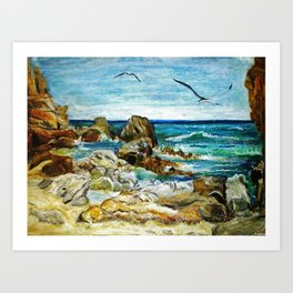 CRAYON LOVE - Costa Brava Art Print