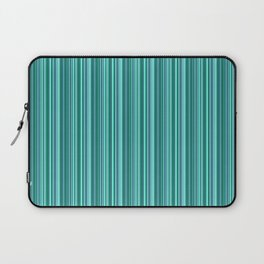 Turquoise striped . Laptop Sleeve