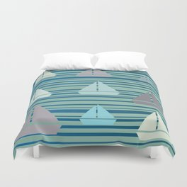 Boats & Stripes Duvet Cover