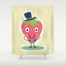 Elegant Strawberry Shower Curtain