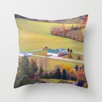 tennessee Throw Pillows featuring Tennessee Country by Mary Timman