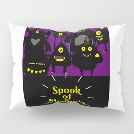 Spook of Shadows Cool Scary Halloween Pillow Sham