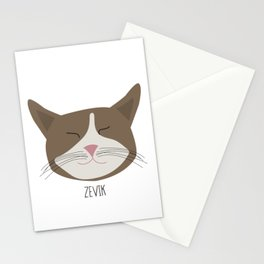 Family Cat Portraits, Zevik Stationery Cards