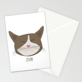 Family Cat Portraits, Zevik Stationery Cards
