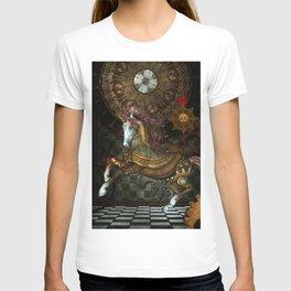 Steampunk,mystical steampunk unicorn T-shirt