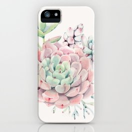 Perfect Pink Succulent iPhone Case