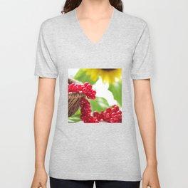Red summer fruits image Unisex V-Neck