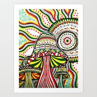 rasta Art Prints featuring Rasta by Marcela Caraballo