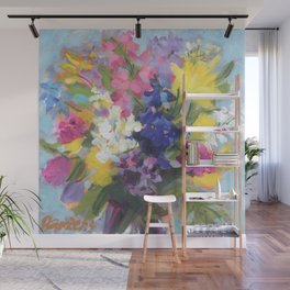 Radiant Spring Bouquet Wall Mural