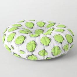 Green apple Floor Pillow
