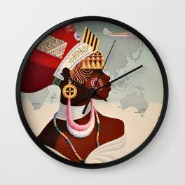 South Africa, Qantas - Vintage  Poster Wall Clock